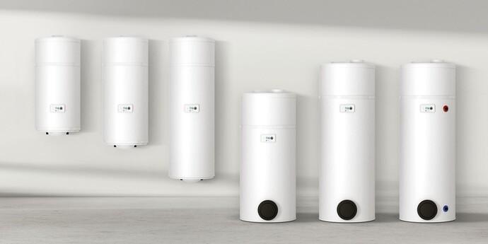 Gamme des boilers thermodynamiques MagnaAqua 80-300 litres