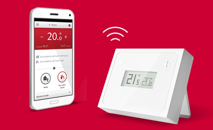 Le thermostat MiGo avec l'application gratuite MiGo.