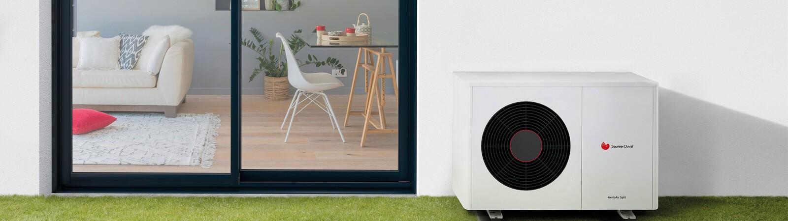 GeniaAir split lucht/water-warmtepomp van Bulex voor woning