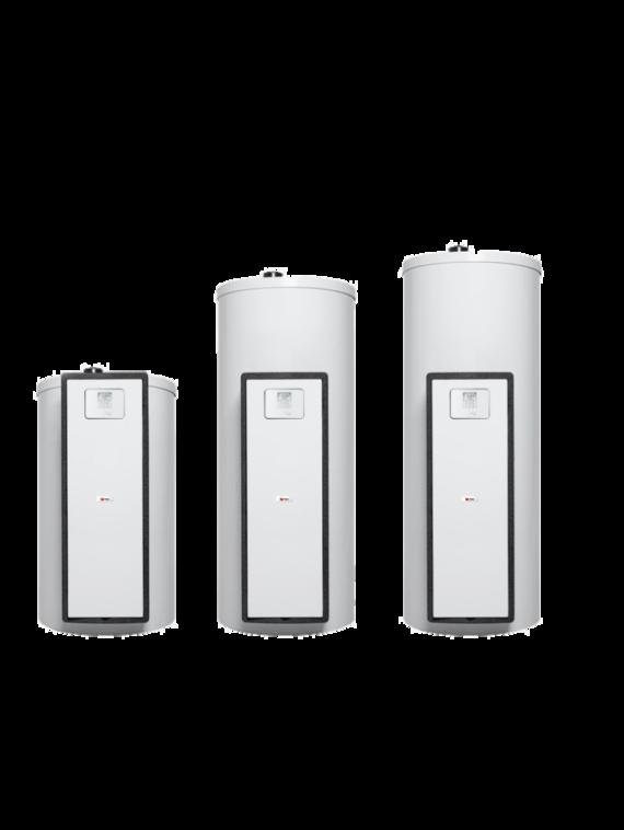 Zonneboilerconcept HelioSet, beschikbaar in boilers van 150, 250 en 350 liter