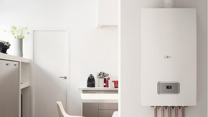 Chaudière à condensation ThermoMaster dans une cuisine